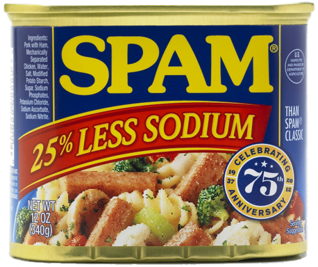 SPAM<sup>&reg;</sup> Less Sodium