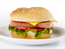 Lightened-Up SPAMBURGER&#174; Hamburger