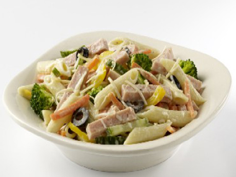 Garden Vegetable Turkey and Pasta Salad