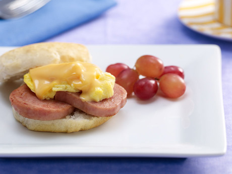 SPAM® Bacon Egg and Cheese Biscuits